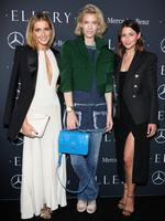 Bloggers Kate Waterhouse, Zanita Whittington and Sara Donaldson attend the Mercedes-Benz Presents Ellery show at Mercedes-Benz Fashion Week Australia 2015 at Carriageworks on April 12, 2015 in Sydney, Australia. Picture: Getty