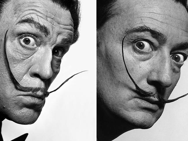 Spot the difference? Sandro Miller's take on Albert Watson's Alfred Hitchcock with Goose 1973. Picture: Courtesy Sandro Miller