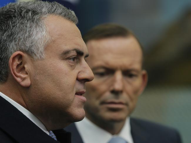 Treasurer Joe Hockey and Prime Minister Tony Abbott are still pushing hard to get Budget measures through.