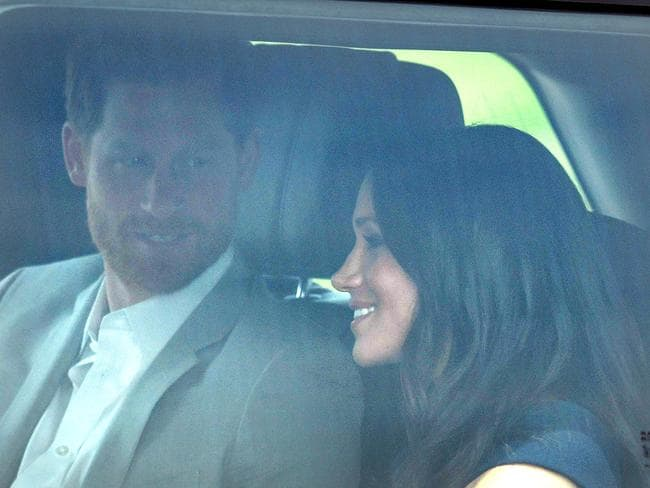 Prince Harry and Meghan Markle arrive at Windsor Castle. Picture: MEGA