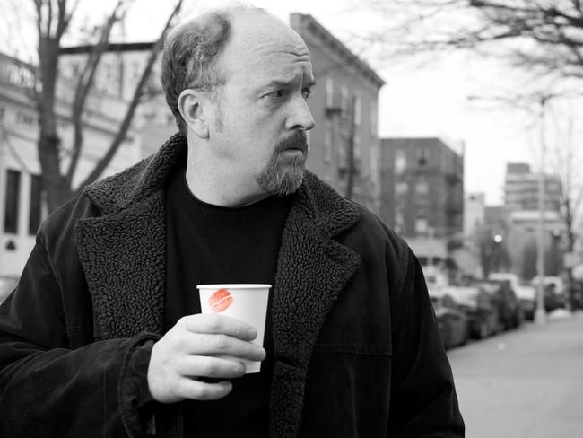 A divorced comedian ... Louis C.K in a scene from Louie: Picture: Supplied by Foxtel