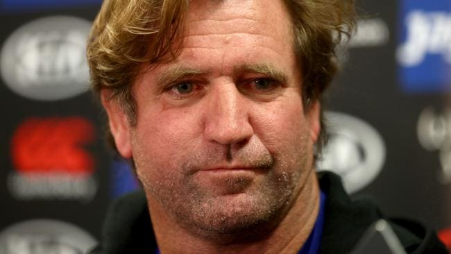 Canterbury Bulldogs Des Hasler after the announcement he will continue to coach the team until 2019. Picture: Gregg Porteous