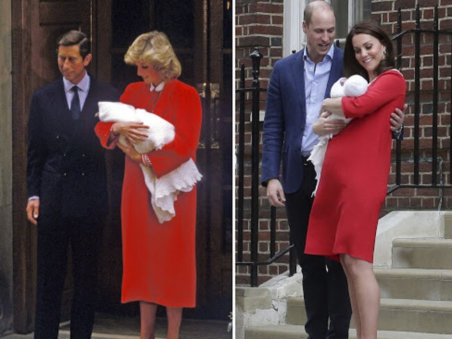 The Duchess of Cambridge s emotional baby tribute to Princess Di. Picture: Supplied