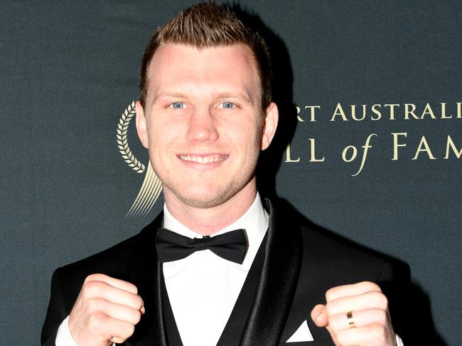 Jeff Horn at The Don awards on Thursday night.