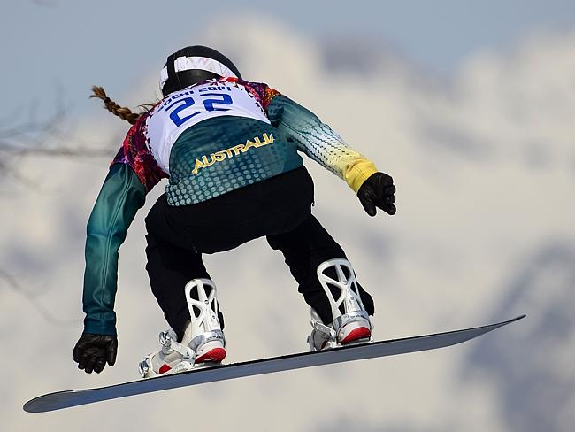 Australia's Torah Bright competes in the Women's Snowboard Cross.