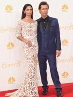 Actor Matthew McConaughey (R) and model Camila Alves attend the 66th Annual Primetime Emmy Awards held at Nokia Theatre L.A. Live on August 25, 2014 in Los Angeles, California. Picture: Getty