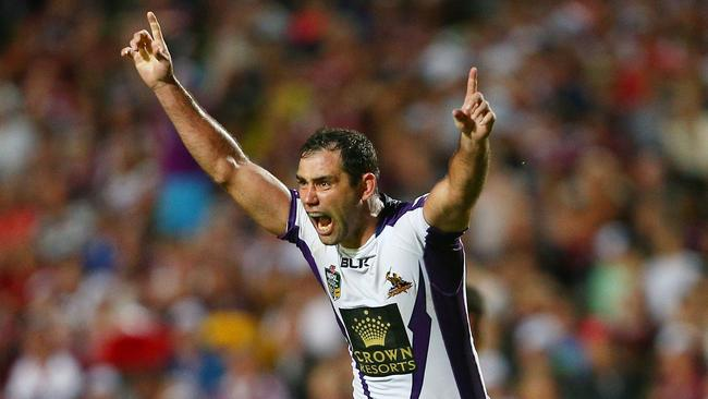Cameron Smith celebrates one of his 237 career wins.