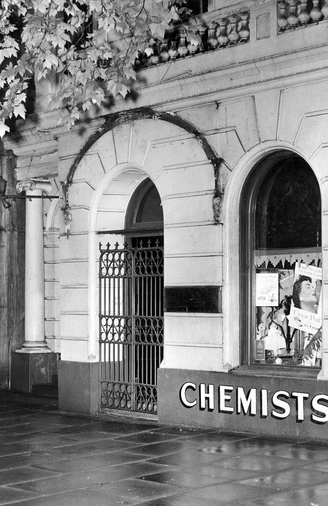 1954: Ogg Chemist. Picture: Herald Sun Image Library/ARGUS