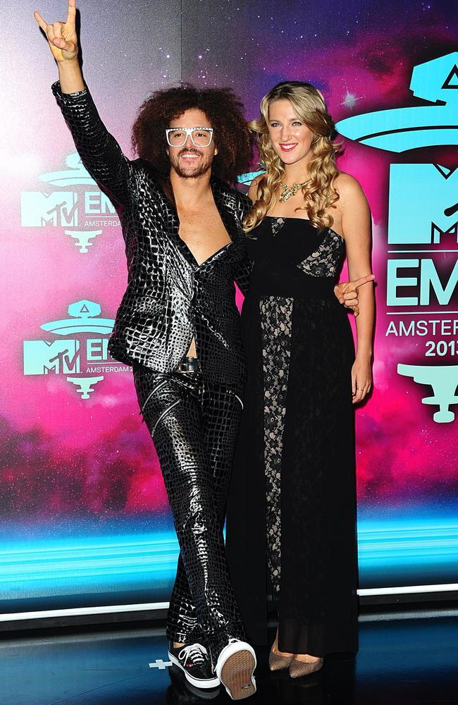 RedFoo and Victoria Azarenka, pictured here at the 2013 MTV Europe Music Awards IN Amsterdam, are taking a break from their relationship.
