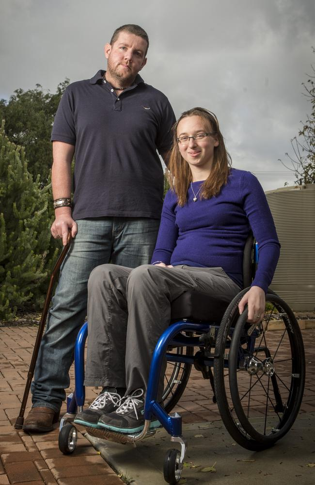 Elise Summerton and Luke Kennedy have had many health issues after an unregistered and uninsured driver crashed into them near Pinaroo. Picture: Matt Turner