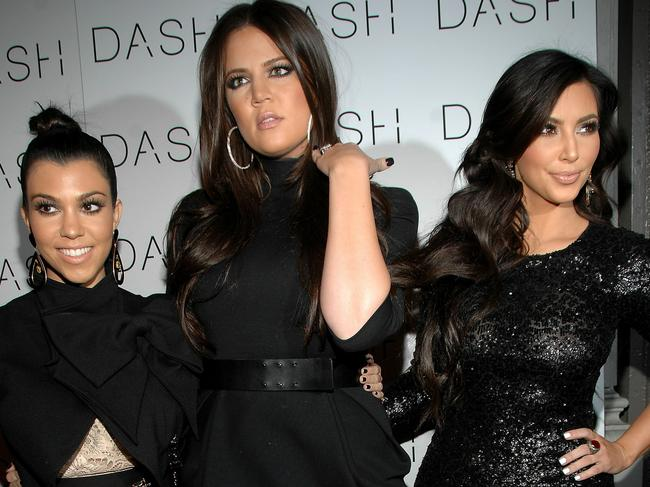 Kourtney, Khloe and Kim Kardashian attend the grand opening of Dash NYC in 2010. Picture: Marc Stamas/Getty Images/AFP
