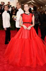 """Allison Williams attends the Met Gala 2015 """"China: Through The Looking Glass"""". Picture: Getty"""