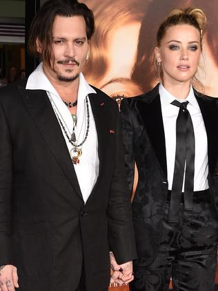 Johnny Depp and Amber Heard. Picture: Getty