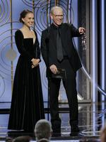 Natalie Portman and Ron Howard speak onstage during the 75th Annual Golden Globe Awards at The Beverly Hilton Hotel on January 7, 2018 in Beverly Hills, California. Picture: Getty