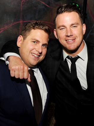 Hill and Tatum, pictured at the after party for their movie's premiere, have become good mates.