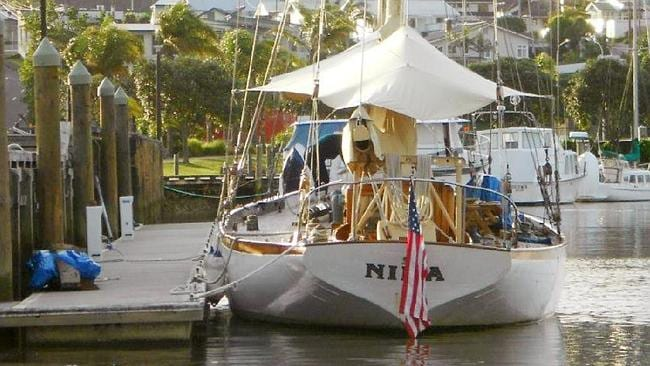 The Nina tied at dock at an unidentified location. Picture: AP