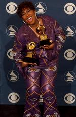 She's not known for her tasteful fashion choices, but this purple leather suit Missy Elliot wore to the 2002 Grammys just looks plain uncomfortable. Picture: Vince Bucci/Getty Images