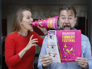 Claire Hooper and Lehmo with 2017 Comedy Fest program