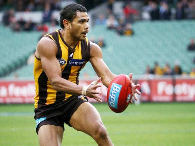 Cyril Rioli doesn't get a lot of the footy, but when he does, it tends to be at the pointy end of games. Picture: Colleen Petch.