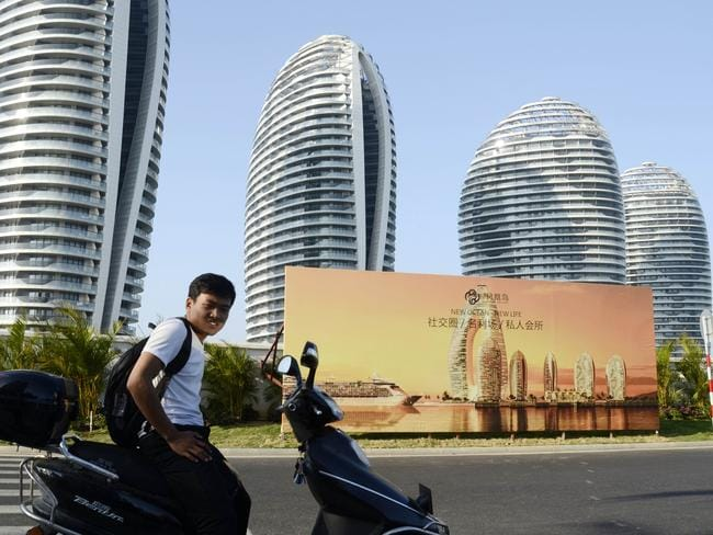 These luxury apartment blocks at the seaside city of Sanya, in China's southern Hainan province have been billed as China's Dubai, but they wouldn't fit in with new guidelines.