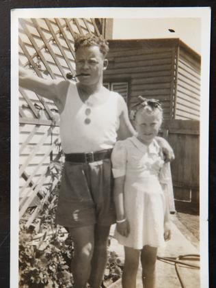 Betty with her father, George Wardley, when she was 11 years old.