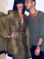 """PARIS FASHION WEEK 2014: Singer Rihanna and designer Olivier Rousteing at the Balmain show. Rihanna posts, """"My fashion soul mate!!!"""". Picture: Instagram"""
