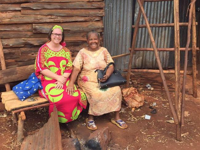 Australian teacher Gabrielle Maina and an African woman in a picture posted by the 40-year-old.
