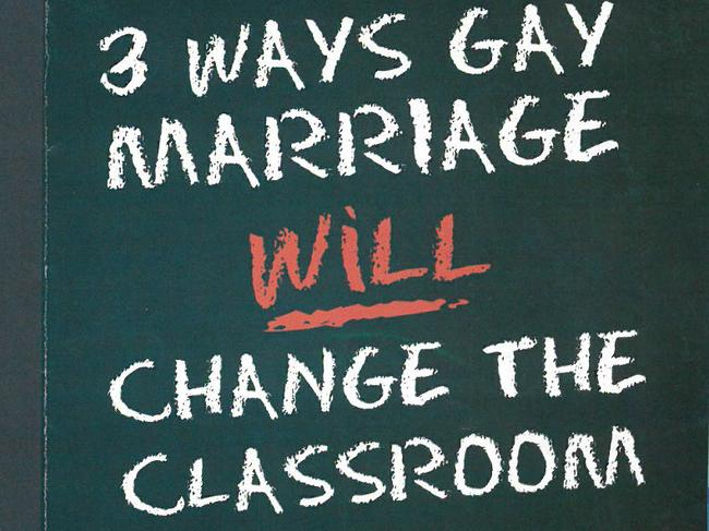 A leaflet on schools distributed by the Coalition for Marriage.