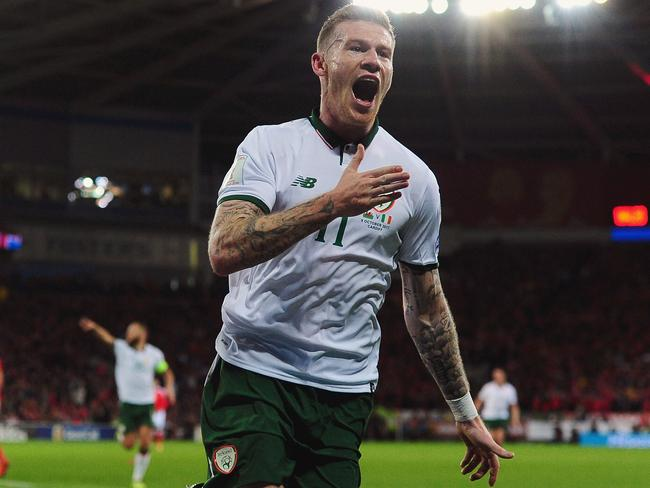 James McClean celebrates. (Photo by Harry Trump/Getty Images)