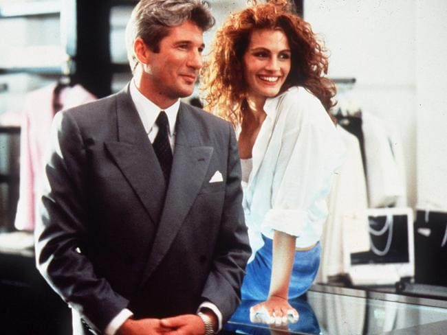 Better days ... Richard Gere with Julia Roberts in scene from his hit film Pretty Woman.