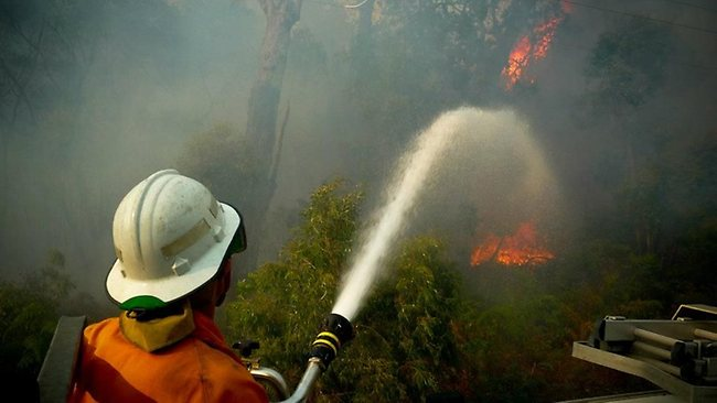 FLAME ON: Prescribed burns are to continue despite a fire getting out of control and destroying 4 1 homes in WA's South-West.  Picture: Sean Blockside