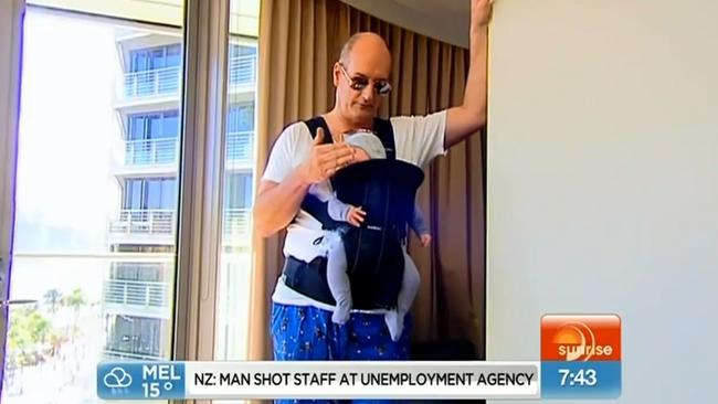 Kochie gone bad ... Sunrise co-host David Koch gets The Hangover treatment. Picture: Supplied