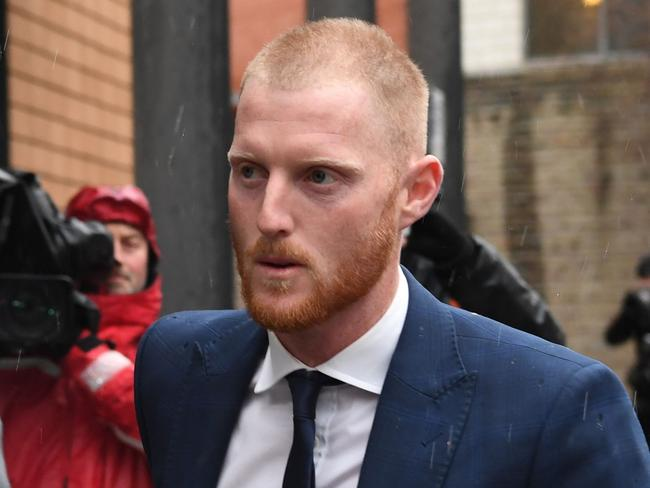 Ben Stokes arrives at a magistrates' court in Bristol.