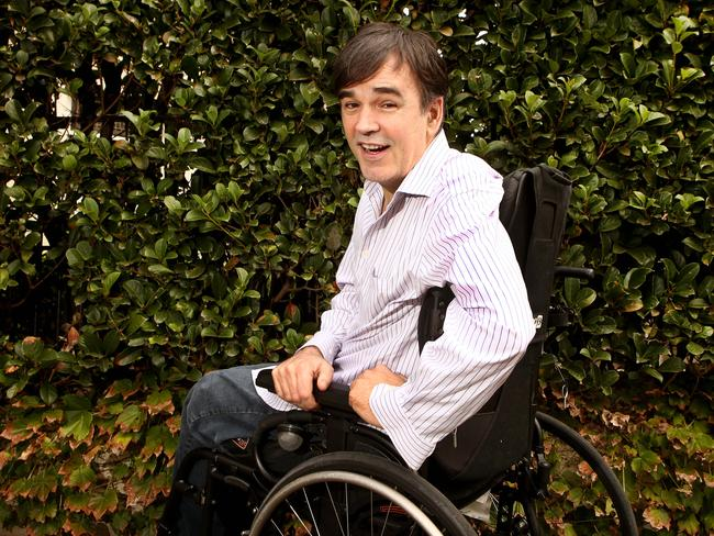 Comedian Tim Ferguson said some fans were shocked to see him in a wheelchair. Picture: Chris Pavlich