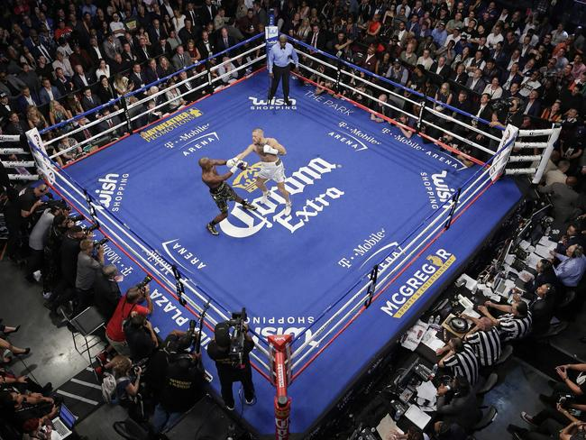 Mayweather fight with Conor McGregor was his last bout. Picture: Eric Jamison/AP