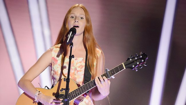 The Voice Australia contestant Celia Pavey during her blind audition. Picture: Channel Nine