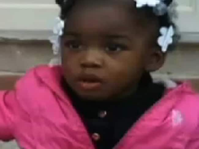 "Shot in the head at ""point-blank range"" ... two-year-old Kamiya French was sitting on the porch of a house when she was killed."