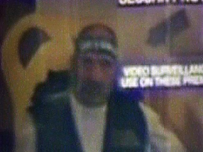 Chilling CCTV footage .... shows Monis during the terrifying Martin Place siege Picture: Supplied