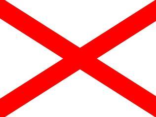 St Patrick's Saltire represents Ireland.