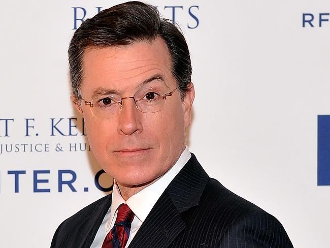 """Thrilled ... Stephen Colbert will replace David Letterman as the host of the Late Show, saying he had """"never dreamed"""" of such a great opportunity. Picture: Stephen Lovekin"""