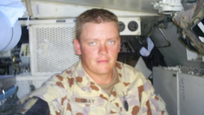 Compiling the statistics ... former soldier Aaron Gray from Bomaderry pictured during a deployment in Iraq. Picture: Supplied