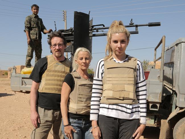 Andrew, Kim and Nicole travelled to the frontline with Kurdish forces fighting IS.