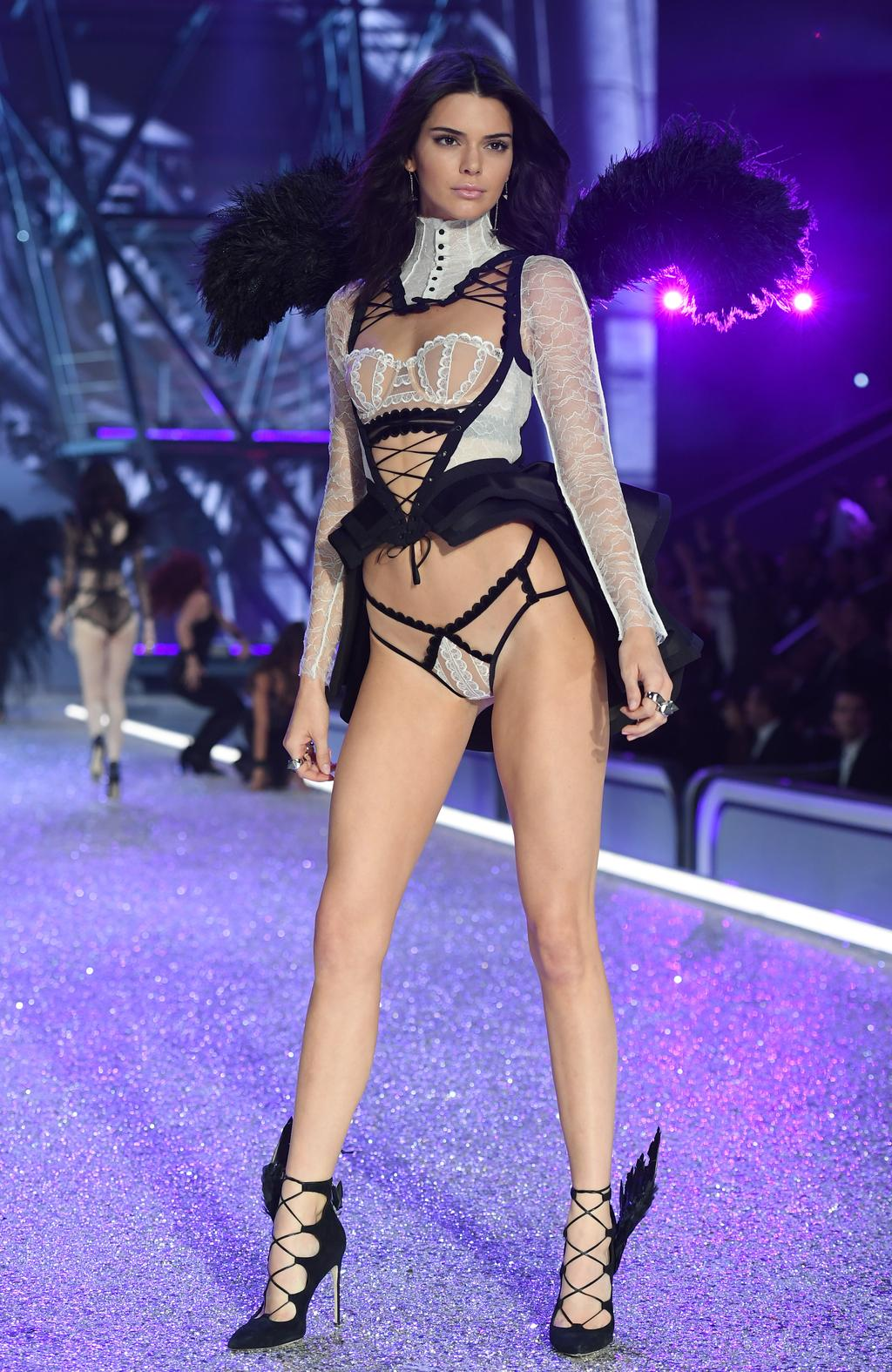 Kendall Jenner walks the runway during the 2016 Victoria's Secret Fashion Show on November 30, 2016 in Paris, France. Picture: Getty