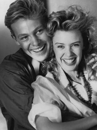 Jason Donovan with Kylie Minogue in 1988. Picture: supplied.