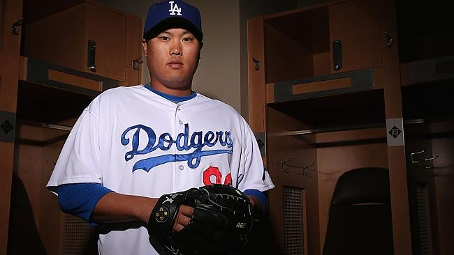 Hyun-Jin Ryu will be pitching game two for the Dodgers in Sydney.