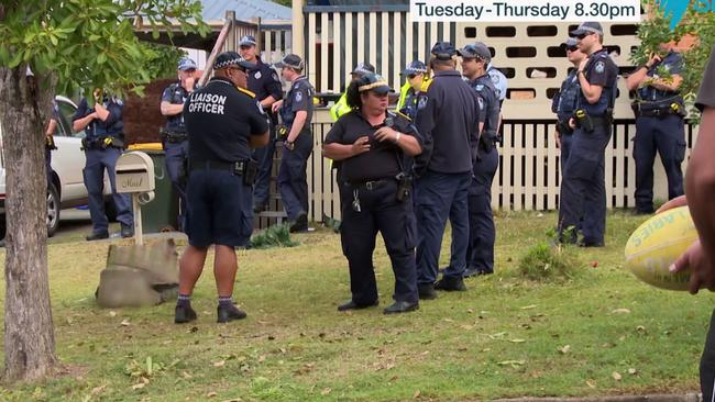 A large number of police turned up to Norma's home as they prepared to evict her.