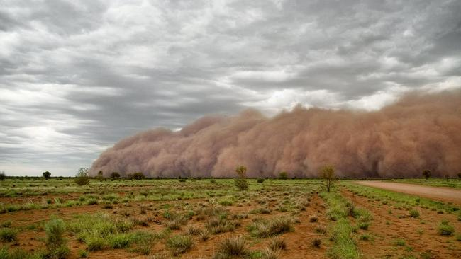 In outback South Australia, this photographer saw his first dust storm and decided to grab a snap. Pictured Graham Nicholls.