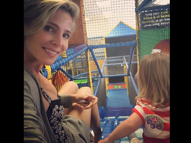 "Spanish actress Elsa Pataky with daughter India Rose, ""Enjoying a play day with India. We have so much fun."" Picture: Instagram"
