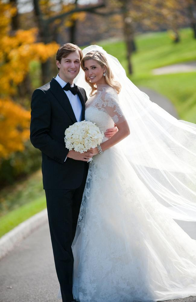 Ivanka Trump and Jared Kushner attend their wedding at Trump National Golf Club on October 25, 2009. Photo: Brian Marcus/Fred Marcus Photography via Getty Images.
