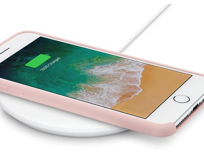 The Belkin Charge Up is a wireless charging pad that can be used to power up the Apple iPhone 8 or X.